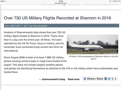 Stop Trumps' war machines refuelling at Shannon airport.