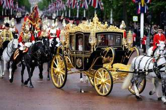 No to Trump's use of ceremonail gold carriage.