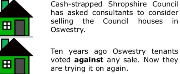 Hands Off Oswestry's Council Homes