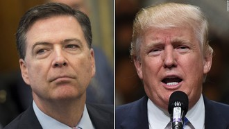 Call Fired FBI Director James Comey to set a date for testifying on Russia's connections to Trump.