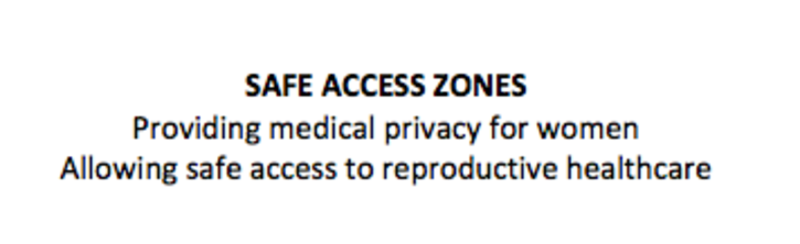 Safe Access Zones for WA Women