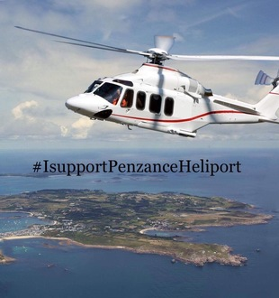 PETITION FOR A HELICOPTER SERVICE BETWEEN PENZANCE AND THE ISLES OF SCILLY