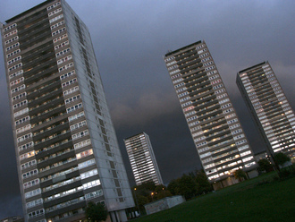 Install fire alarms and sprinklers in high rises