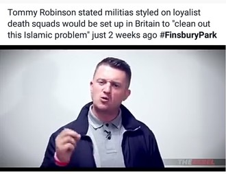 Tommy Robinson white supremacist