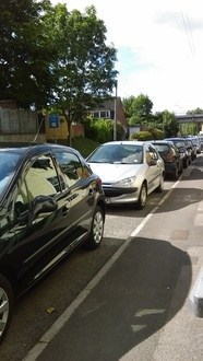 Resident parking at Portway/from bridge to Westbury road