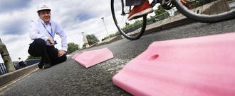 Introduce 'Pink Bobbies' (Armadilos) to cycle lanes in Oxford & Britian
