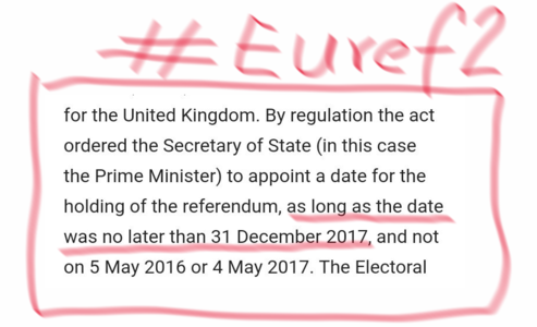 Measure twice, cut once: EURef2 before Christmas please