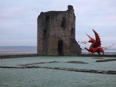 Red dragon at Flint Castle