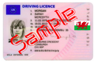 Remove Union Jack flag from Welsh driving licenses.