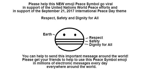 A new emoji peace symbol for World Peace is needed