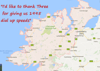 Improved Internet for Three Ireland Customers in Donegal