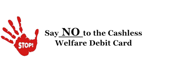 Stop The Cashless Welfare Debit Card coming to Hinkler Hervey Bay-Bundaberg