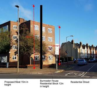 Stop the Burmester Road mobile mast