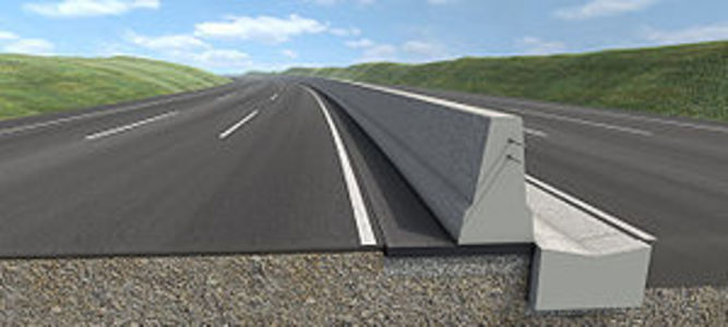Concrete Central Reservation Barrier for all Motorways