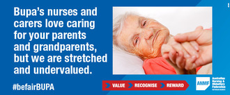 Be Fair Bupa: put resident care, staffing levels and nurses' and carers' wages before profits
