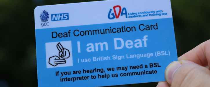Deaf Patient Support cards
