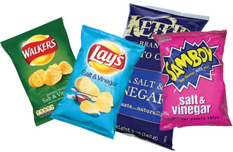 Crisp packet flavours should have the same recognisable colours