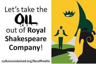 End BP Sponsorship of the Royal Shakespeare Company