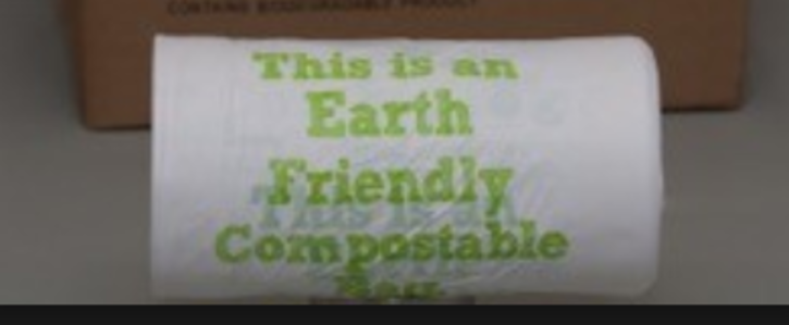 Make self-serve plastic bags compostable