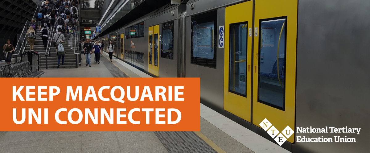 Macquarie Uni Station Closing Keep Mq Connected Megaphone