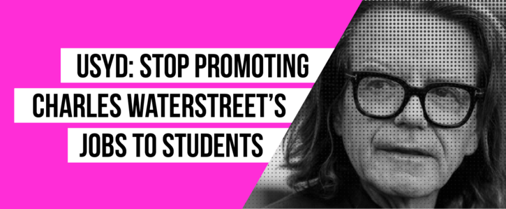 USyd Stop Promoting Charles Waterstreets Jobs To Students