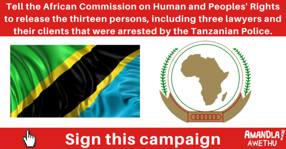 Release the 13 persons arrested by the Tanzanian Police