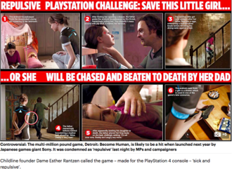 Make Sony remove child abuse scenes from video games
