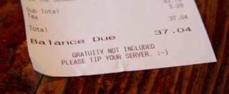 Adding automatic gratuity to big parties at Denny's