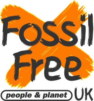 Fossil free square white background