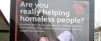 Remove Posters in Gloucester City Centre demonising Homelessness