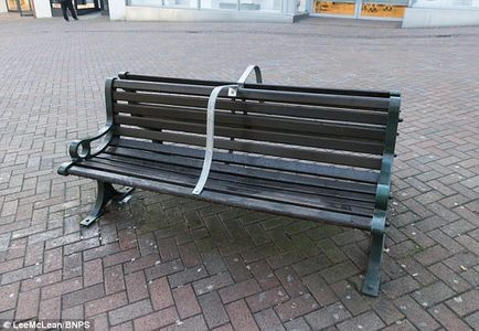 Bournemouth anti homeless benches