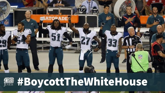 Ask the Philadelphia Eagles to #BoycottTheWhiteHouse