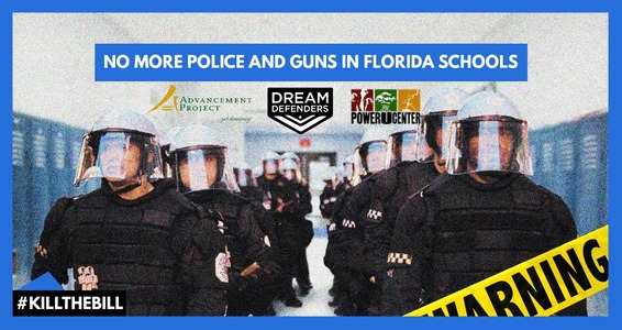 Veto Bill to Fund Militarization of Florida Schools