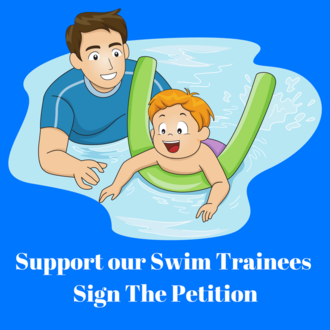 Support our swim trainees sign the petition