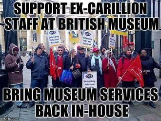 Carillion shows privatisation isn't working: Bring Museum services back in-house!