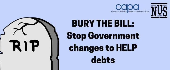 Bury the Bill - Stop Government Changes to Student Debt