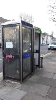 Petition to remove filthy phone boxes from outside Hove Station cafe