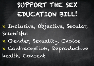 Support the Sex Education Bill