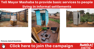 Provide basic services to informal settlements