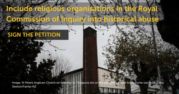 Include churches in the Royal Commission of Inquiry into historical abuse