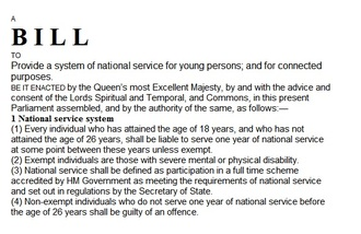 National service - a very bad idea