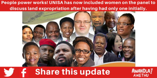 Tell UNISA to include Black women on land expropriation discussion