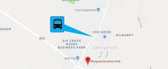 Bus Stop for Foxwood, Tesco, Carrig An Aird, Musgraves Business Park