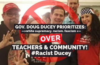 SIGN NOW!  Governor Doug Ducey denounce White Supremacy or Resign!