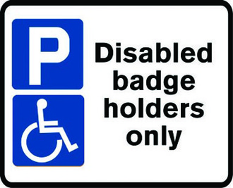 Blue Badge only bays