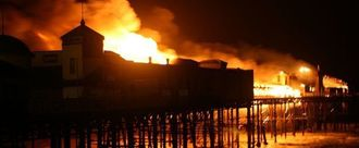 Pay hastings pier in east sussex after being destroyed by fire in 2010 2