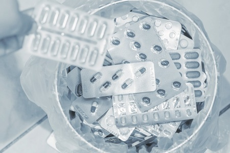 Abandon the use of plastic blister packaging for pills and other medical products.