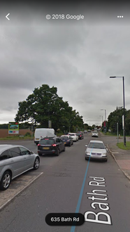 Keep the roundabout at Huntercombe Lane/A4 Bath Rd Junction