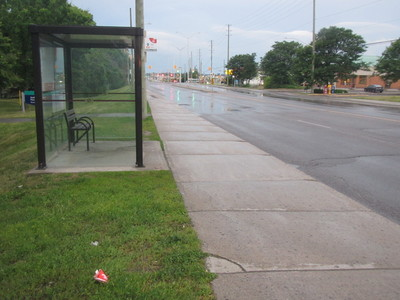 Install recycling units at every bus stop in Ottawa, Ontario