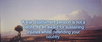 War disablement pensions
